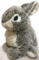 "Lemonwood Asia LTD Easter Bunny Rabbit 15"" Plush Gray White Blue Eyes"