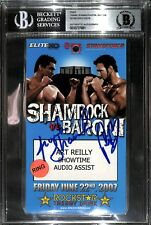 Frank Shamrock Phil Baroni Signed 2007 StrikeForce MMA Pass BAS Beckett COA UFC