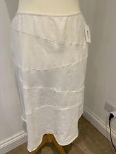 Style & Co 100% linen white lined skirt