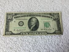 1950 Series A $10 US Currency w/free shipping