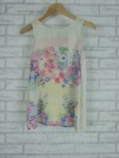 FOREVER NEW Top/Blouse Sz 10  Pink, White, Green Floral Print