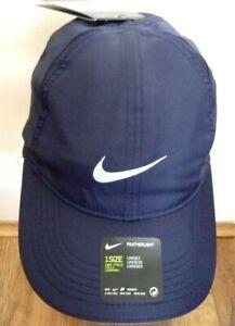 New Nike Rare Aerobill Elite Running  Cap  Hat DRI-FIT Colour NavyLightweight