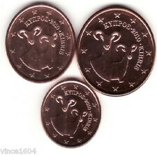 lot 1,2,5 cts cent euro Chypre / Cyprus 2010 qualité UNC !!! voir scan