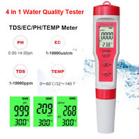 4 in 1 Portable Digital LCD Water Quality Water Purity Tester TDS/EC/PH/TEMP Pen