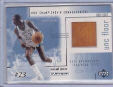 CHICAGO BULLS MICHAEL JORDAN 2001 UD PIECE OF FLOOR GAME-USED BASKETBALL CARD