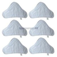New Set of 6 Microfibre Steam Mop Floor Washable Replacement Pads To  Fit H20 X5