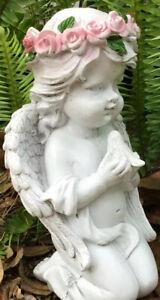 """Cherub Statue Garden Sculpture 8"""" Angel Figurine Lawn Yard Patio Home Decor NEW"""