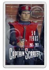 CAPTAIN SCARLET 1967 - 2017 50 YEARS  ARTWORK NEW JUMBO FRIDGE LOCKER MAGNET V2