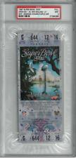 1997 Super Bowl XXXI Purple Full Ticket PSA 9 Green Bay Packers Brett Favre RC