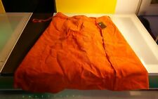 Danier Orange suede skirt size 10 women's with tags never worn retail 99$