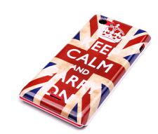 Custodia Protettiva F Sony Xperia J st26i Case Cover Custodia Keep Calm Inghilterra UK GB