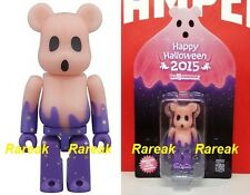 Medicom Be@rbrick 2015 Happy Halloween 100% TRICK or TREAT GID Red Bearbrick