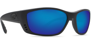 Costa Del Mar Sunglasses Fisch Black Frame Blue Mirror Lens 580G