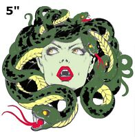 Bleeding Medusa Embroidered Badge Sew On Iron On Patch Clothes Applique Fabric