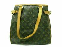 Auth LOUIS VUITTON Monogram Batignolles Vertical M51153 Tote Bag Leather 86484