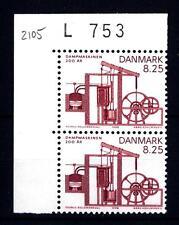 DENMARK - DANIMARCA - 1990 - Bicentenario del motore a vapore. Coppia d'angolo