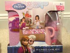 "Disney Frozen Tea Party Game Rug 26.3"" x 39.5"" with Tea Pot,Tea Cup,Saucers New"