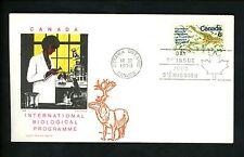 Postal History Canada Scott #507 Overseas Mailer FDC Biological Program 1970 ON