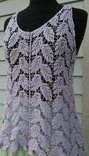 Apparel Love small casual summer top sleeveless, lavender color crochet patterns