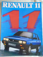 Renault 11 range brochure 1984 German text