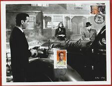 Hand signed B&W vintage photo of Lauren Bacall with Humphrey Bogart by H.Nakano