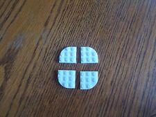 LEGO Piastra Angolo arrotondato Bianco 3 x 3, parte N. 30357, confezione da 4