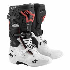 Neu Alpinestars Tech 10 Deus Ex Machina Motocross Stiefel Schwarz Weiß Rot Moto
