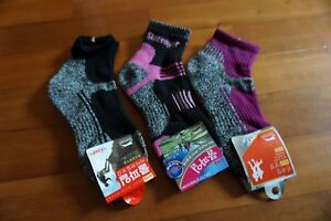 4 Pairs Slazenger Womens Socks for Hiking/Climbing/Outdoors Sport Coolmax