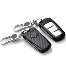 Carbon Fiber Car Key Cover for Volkswagen VW CC B6 B7 Magotan Passat 3 Buttons