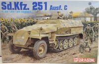 Dragon Model Kit 1/35 Sd.Kfz.251 Ausf.C German Army WWII Half-track Armor 6187