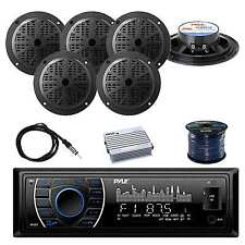 Receiver Stereo(Black) w/Pyle 100W Speakers, Antenna, Amplifier & Speaker Wire