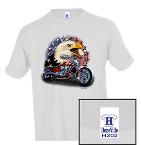 Attitude Biker eagle chopper HoneVille Unisex T-shirt Youth Adult