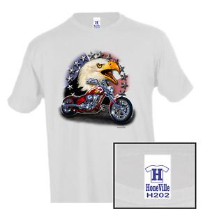 Attitude Biker eagle chopper HoneVille Unisex T-shirt Youth Adult