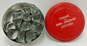 (12) Vintage Canape and Hors D'oeuvre Cutters - SRG - Made in Japan