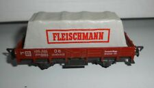 """Fleischmann H0: Niederbordwagen mit Plane """"Fleischmann"""""""