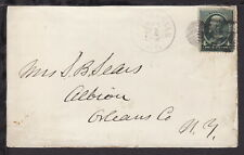 UNITED STATES 1880s LITTLE FALLS NY? COVER bearing 4c Green JACKSON (L457)