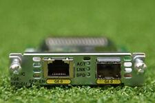 CISCO EHWIC-1GE-SFP-CU Gigabit Ethernet Enhanced High-Speed WAN Card - 1 YR WTY