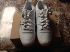 Reebok Mens Classic Leather Athletic Lace Up Shoes White/Tan Sz US:9.5 Sweet