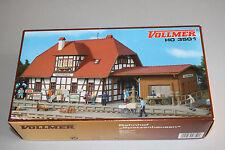 """VOLLMER 3501 Kit stazione ferroviaria """"Passeri vivere"""" traccia h0 OVP"""