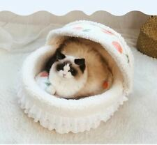 Princess Pet Dog Cat Bed House Sofa Mat Cushion Basket Roof removable Indoor Bed
