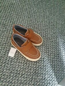 Baby Boy NEXT Tan Leather Loafers Shoes Slip On Infant Size 6