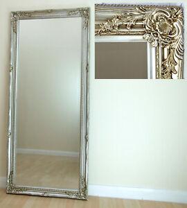 Portland Full Length Ornate Large Vintage Wall Leaner Champagne Mirror 160x72cm