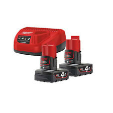 MILWAUKEE | M12 NRG-402 | ENERGY PACK 12V | 2 Batterie 4.0Ah + Caricabatterie