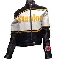 Pittsburgh Steelers NFL Italian Lambskin Leather Jacket $1300 FINAL MARKDOWN