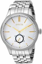 Invicta Men's 25219 Vintage Stainless Steel Silver Dial Watch New