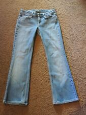 SEVEN FOR ALL MANKIND 7 FLAIR FLYNT STYLE JEANS SIZE 26  INSEAM 27  7 1/2 RISE