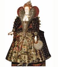 REINE ELIZABETH I MONARCHIE TAILLE RÉELLE EN CARTON DÉCOUPE Tudor Dynastie école