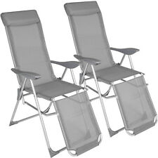 Set van 2 Klapstoelen multipositie zetel en aluminium tuin stoel campingstoel