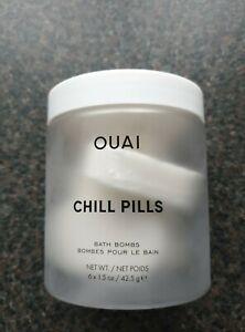 OUAI Chill Pills Bath Bombs Jasmine Rose 6 x 42.5g - Individually Sealed / New