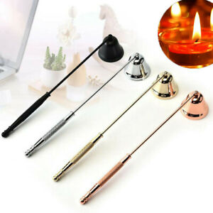 1x Stainless Steel Candle Snuffer Extinguisher Anti-Slip Safe Wick Snuffer LI5